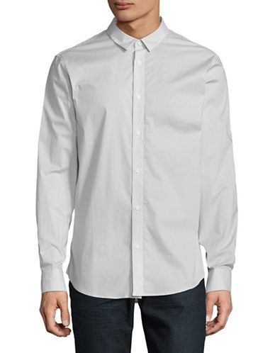 Armani Exchange Regular-Fit Long-Sleeve Sport Shirt-GREY-Small