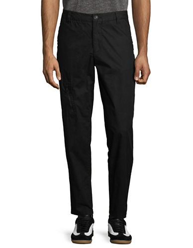 Armani Exchange Cotton Ripstop Pants-BLACK-34