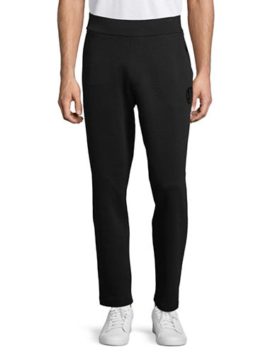 Armani Exchange Double Knit Jogger Pants-BLACK-Large 89815371_BLACK_Large