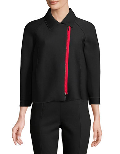 Emporio Armani Micro Piquet Textured Jacket-BLACK-EUR 46/US 10