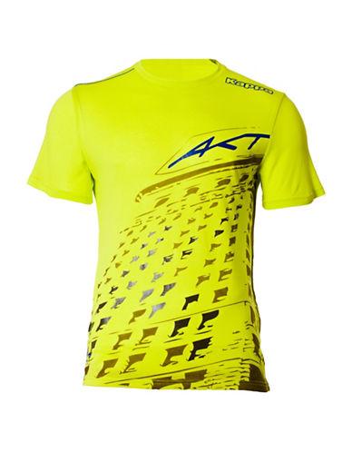 Kappa Short Sleeve Urban T-Shirt-LIME GREEN-Small