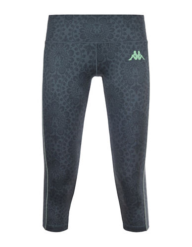 Kappa Kombat Viffin Sublimatic Print Athletic Pants-GREY-Large