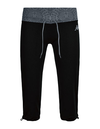 Kappa Vifton Sport Athletic Pants-BLACK-X-Small