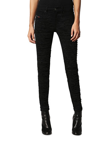 Diesel Ripped Skinny Jeans-BLACK DENIM-24