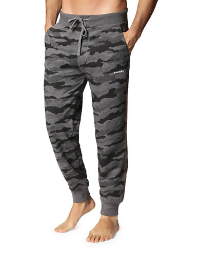 Diesel Peter Cotton Sweatpants-GREY-Medium