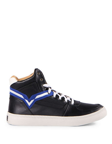 Diesel V Is for Diesel High-Top Sneakers-BLACK-13