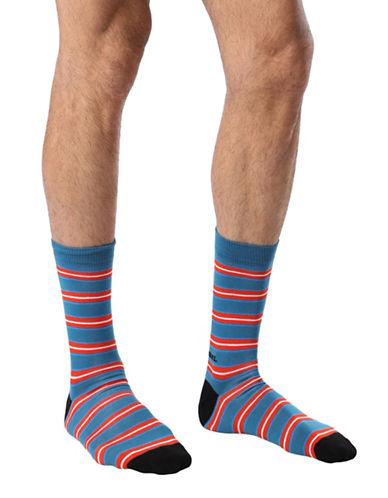 Diesel SKM-Ray Stripes Socks-BLUE-Large