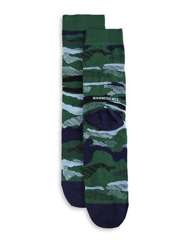 Diesel SKM-Ray Camo Socks-GREEN-Large