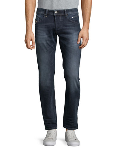Diesel Distressed Tapered-Fit Jeans-BLUE-31X32