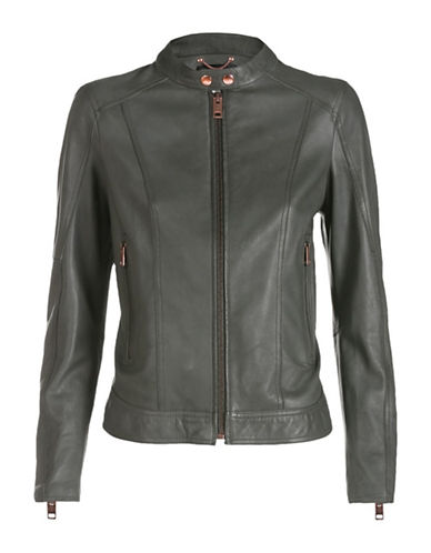 Diesel L-Lory-C Leather Jacket-MUDD-Large