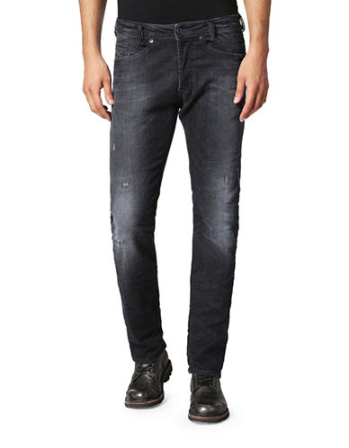 Diesel Akee Tapered-Fit Dark Jeans-BLACK-28X32