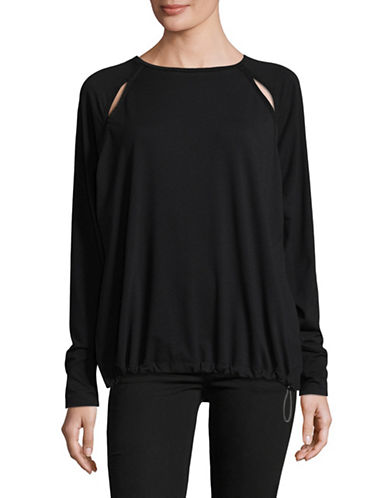 Diesel Drawstring Hem Top-BLACK-Small