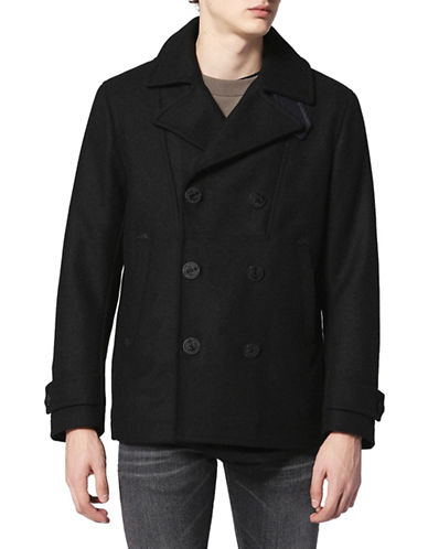 Diesel W-Banff Long Sleeve Cotton Jacket-BLACK-Medium
