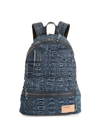 Diesel D-roppongy Denim Backpack-BLUE-One Size