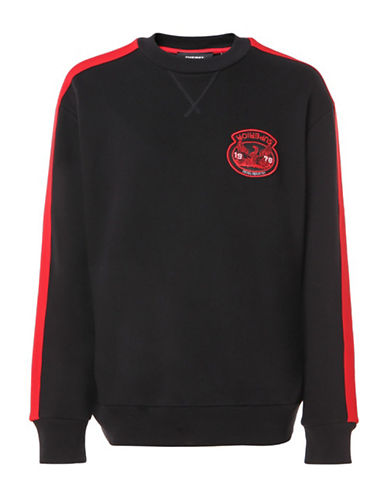 Diesel S-Bay Cotton Sweatshirt-BLACK-XXLarge