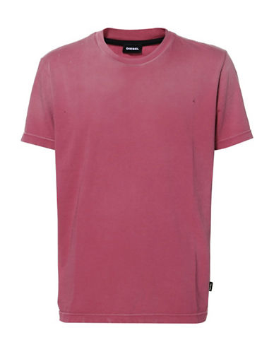 Diesel Printed Cotton Tee-PINK-Medium 89763210_PINK_Medium