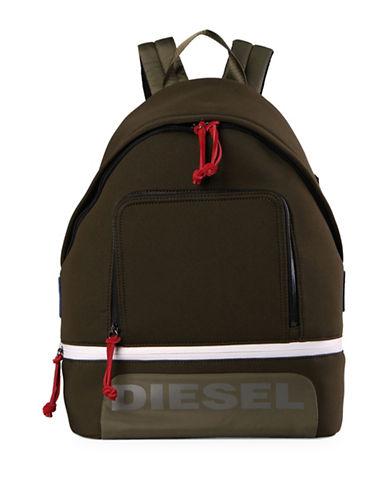 Diesel Colourblock Scuba Backpack-DARK GREEN-One Size