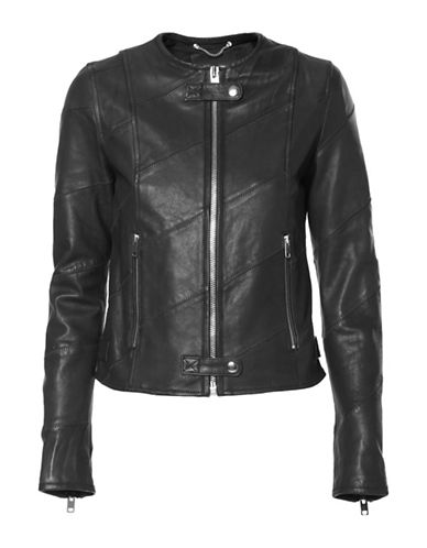 Diesel Arena Leather Moto Jacket-BLACK-Small