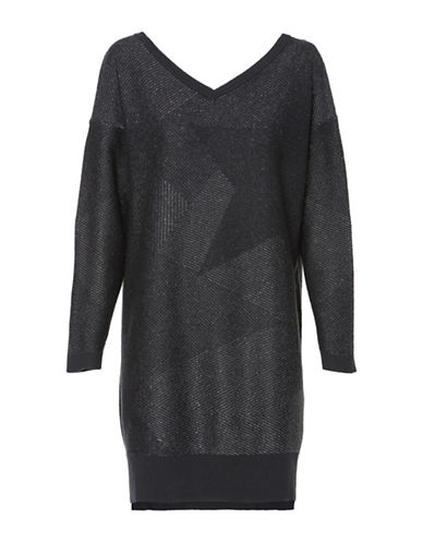 Diesel M-Strarry Pullover Dress-BLACK-Large