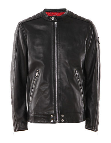 Diesel L-Quad Leather Jacket-BLACK-Small