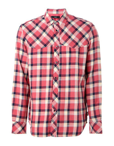 Diesel S-Planet Cotton Sport Shirt-PINK-XLarge