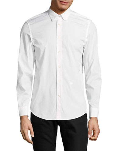Diesel S-Boulder Cotton Sport Shirt-WHITE-XXLarge