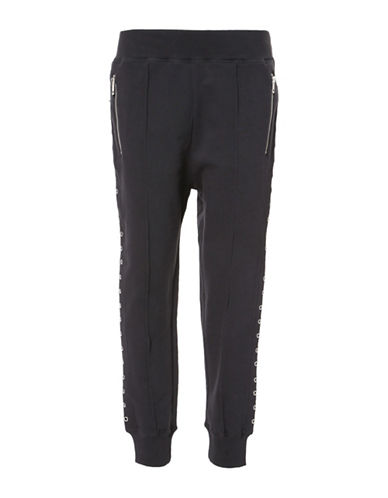 Diesel Naily Cotton Trousers-BLACK-XX-Small