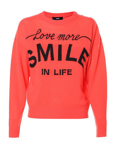 Diesel M-Love Wool and Cashmere Pullover-BLUSH-XX-Small