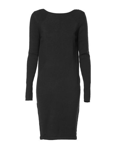 Diesel Pullover Chain Dress-BLACK-Medium