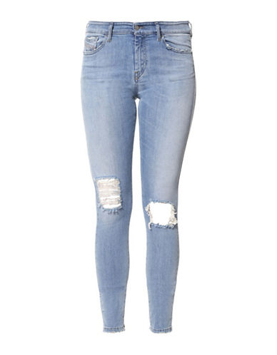 Diesel Slandy Super Slim-Skinny Jeans-DENIM BLUE-26
