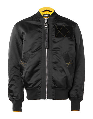 Diesel J-West Bomber Jacket-BLACK-XXLarge
