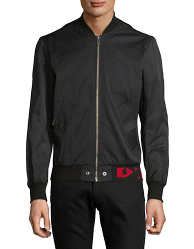 Diesel J-Gate Zip Bomber Jacket-BLACK-XXLarge