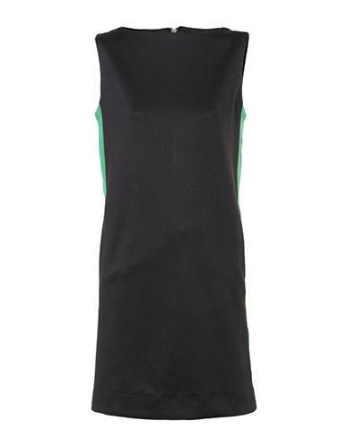 Diesel Two-Tone Mini Dress-BLACK/GREEN-Small