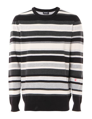 Diesel K-Nut Pullover-BLACK-Small