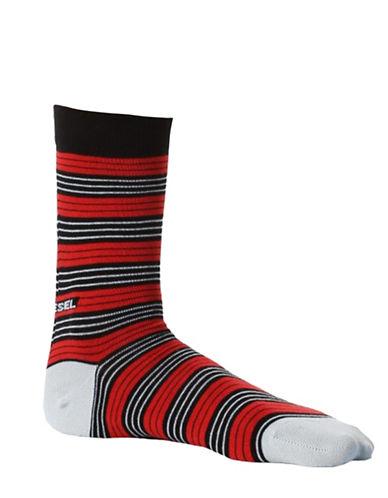 Diesel Ray Stripe Socks-RED-Large