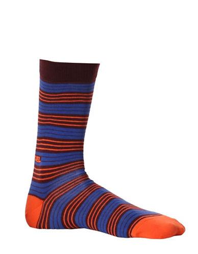 Diesel Ray Stripe Socks-PURPLE-Large