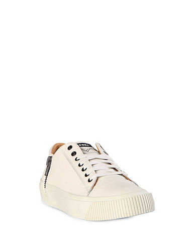 Diesel Voyage Lace-Up Leather Sneakers-WHITE-9