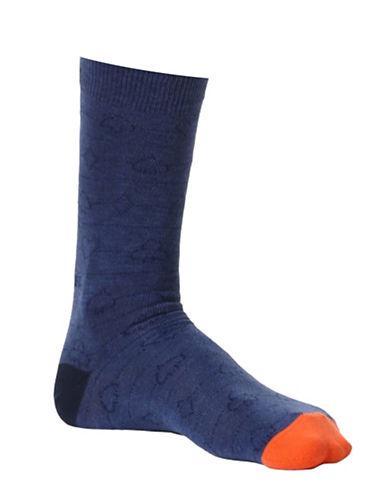 Diesel Ray Spades Socks-BLUE-Large