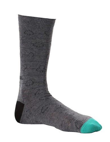 Diesel Ray Spades Socks-BLACK-Large