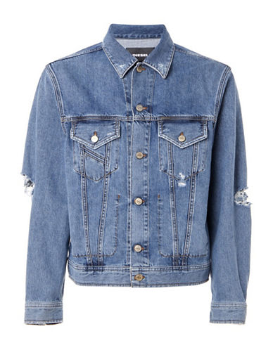 Diesel D-Robyn Denim Jacket-BLUE-Medium