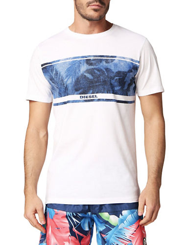 Diesel Parsen Cotton Tee-WHITE-Medium