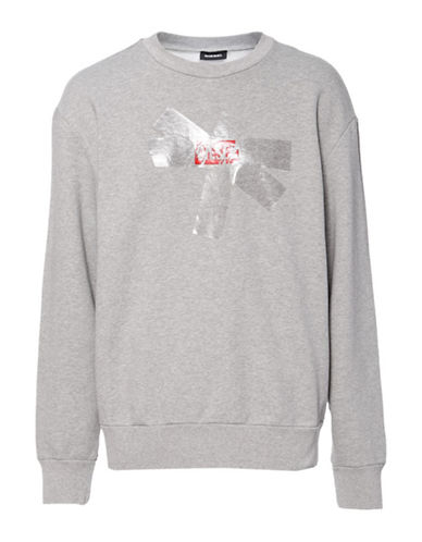 Diesel S-Bay-SA Sweatshirt-GREY-Large 89865191_GREY_Large