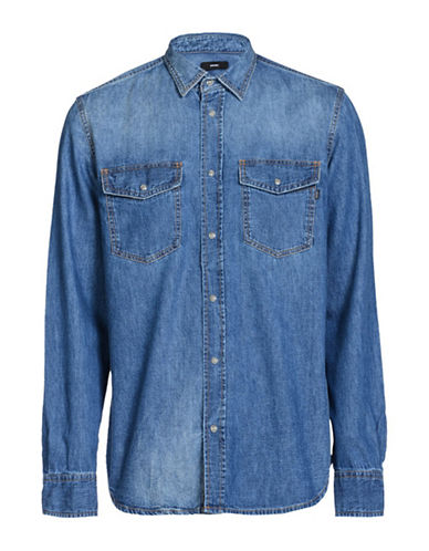 Diesel D-Rooke Shirt-BLUE-Large