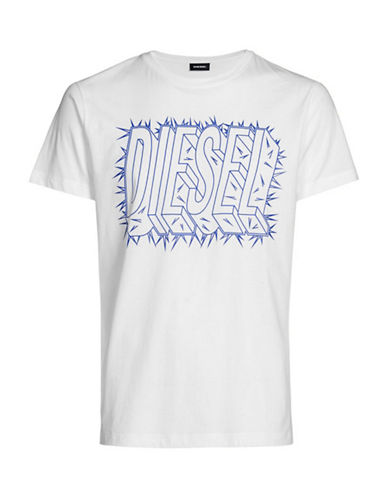 Diesel T-Diego-SL T-Shirt-WHITE-Small 89865301_WHITE_Small