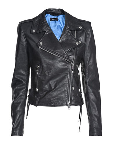 Diesel L-Taras Leather Jacket-BLACK-Medium 90007654_BLACK_Medium