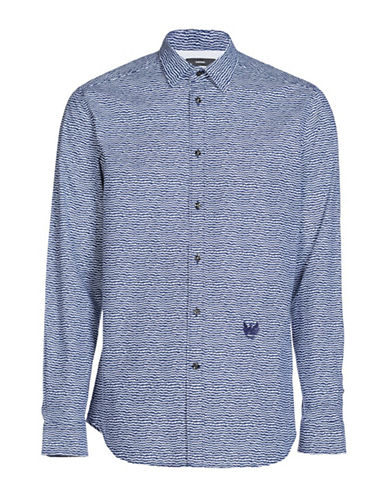 Diesel S-Duny Shirt-WHITE/BLUE-Small