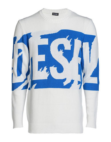 Diesel K-Maxis Pullover-WHITE-Large 89865367_WHITE_Large