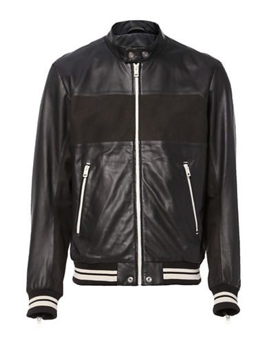 Diesel L-Bisbee Leather Jacket-BLACK-Large
