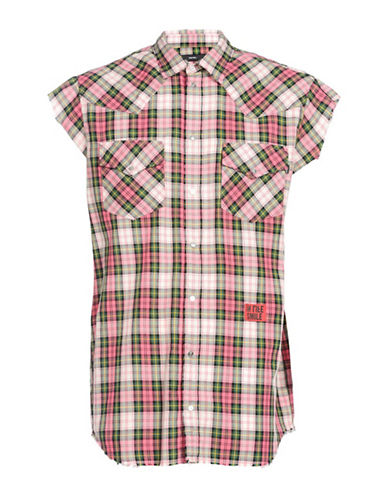 Diesel S-Eastin Checkered Tank Top-PINK-Large 89864854_PINK_Large