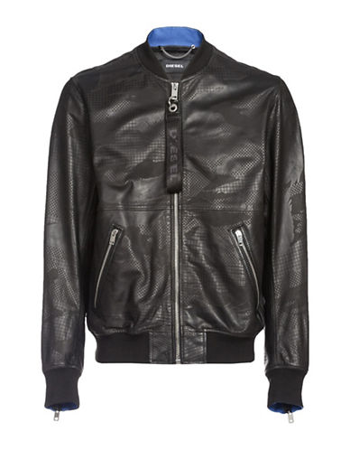 Diesel L-Parker Leather Jacket-BLACK-XXLarge 89865315_BLACK_XXLarge